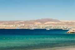 El golfo de Aqaba foto de archivo
