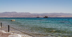 El golfo de Aqaba, Mar Rojo, Israel Imagenes de archivo