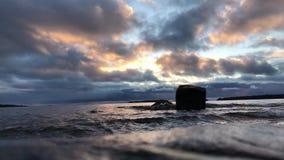 El golfo de Finlandia en diciembre almacen de video