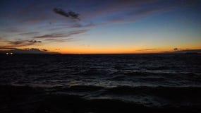 El golfo de Finlandia Puesta del sol Imagen de archivo