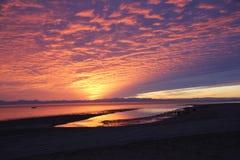 El Golfo de Santa Clara Sonora Sunset stock photos