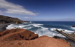 El Golfo i Lanzarote Royaltyfri Foto