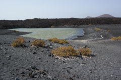 El golfo lake, lanzarote, canaria islands Stock Image