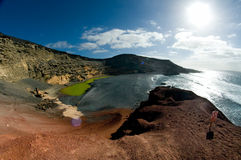 El Golfo, Lanzarote, Canarian Islands. Royalty Free Stock Photography