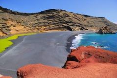 EL Golfo, Lanzarote, Espagne Photographie stock libre de droits