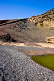El Golfo Lanzarote - green lake. Stock Photography