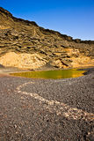 El Golfo Lanzarote - green lake. Stock Photos