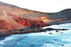 El Golfo, Lanzarote, Hiszpania Obraz Stock