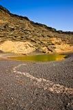 EL Golfo Lanzarote - lago verde. Fotos de Stock