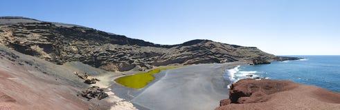 el golfo Lanzarote panoramiczny widok Zdjęcie Stock