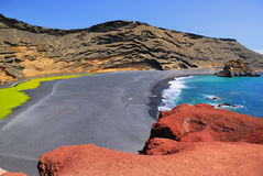 El Golfo, Lanzarote, Spain Royalty Free Stock Photography