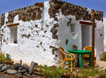 El Golfo in Lanzarote white houses facades Royalty Free Stock Images
