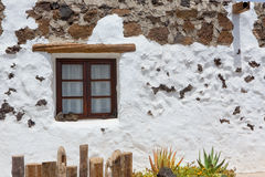 El Golfo in Lanzarote white houses facades Royalty Free Stock Photography