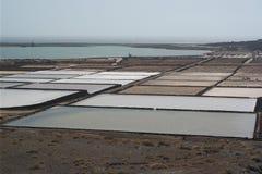 El golfo salines,兰萨罗特岛,卡纳里亚海岛 库存照片