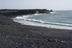 El golfo sea shore, lanzarote, canaria islands Stock Image