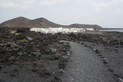 El golfo village, lanzarote, canaria islands Royalty Free Stock Photo