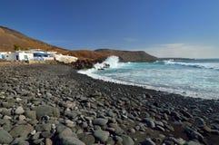El Golfo village, Lanzarote Canary Islands. Stock Images