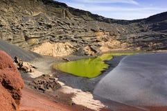 El Golfo, Zielona laguna Zdjęcie Royalty Free