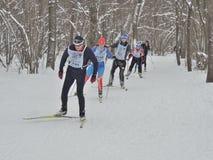 El golpe del esquí de un II de vals Foto de archivo