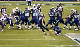 El golpeador Steven Hauschka de los Seattle Seahawks Fotos de archivo libres de regalías