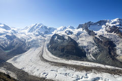 El Gornergrat en Zermatt, Suiza Imagen de archivo