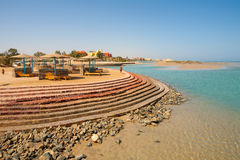 El Gouna beach. Egypt Royalty Free Stock Image