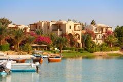 El Gouna. Egypt. View of El Gouna resort. Egypt, North Africa Royalty Free Stock Photography