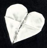 El gráfico de lápiz del corazón de papel quebrado reparó Fotos de archivo