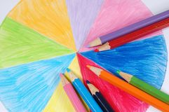 El dibujo de los niños foto de archivo