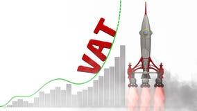 El gráfico del crecimiento del impuesto sobre el valor añadido del IVA libre illustration