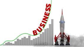 El gráfico del crecimiento del negocio ilustración del vector