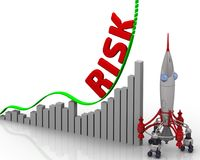 El gráfico del crecimiento del riesgo Foto de archivo