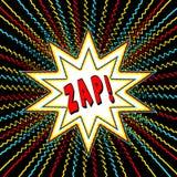 El gráfico del estilo del cómic con palabra del poder wham explosión de la estrella de n Fotografía de archivo libre de regalías