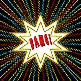 El gráfico del estilo del cómic con palabra del poder wham explosión de la estrella de n Foto de archivo libre de regalías