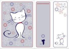 El gráfico fijó con el gato Imagenes de archivo