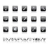 El gráfico filetea iconos. Fotografía de archivo