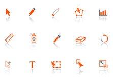 El gráfico filetea iconos. Foto de archivo