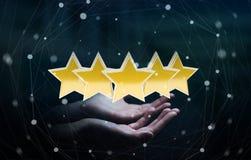 El grado de la empresaria protagoniza con su representación de la mano 3D Foto de archivo