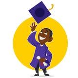 El graduado disfruta Imagen de archivo libre de regalías