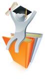 El graduado reserva a la persona de plata Imágenes de archivo libres de regalías