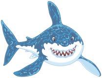 El gran atacar del tiburón blanco Fotografía de archivo libre de regalías