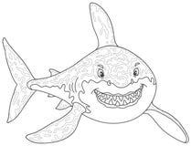 El gran atacar del tiburón blanco Imagenes de archivo