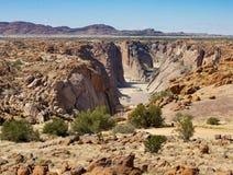 El gran barranco de Augrabies en Northern Cape, Suráfrica Imagen de archivo libre de regalías