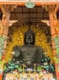 El gran Buda en el templo de Todai-ji en Nara, Japón Imágenes de archivo libres de regalías