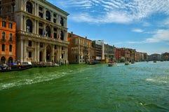 El Gran Canal es el canal más famoso de Venecia Imagen de archivo libre de regalías