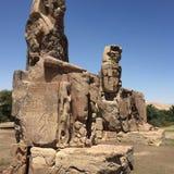 El gran collossi de Memnon Imagen de archivo
