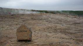 El gran Geysir Imagen de archivo libre de regalías