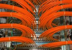El gran panel del distribuidor para los servicios compartidos de la nube en un datacenter Imágenes de archivo libres de regalías