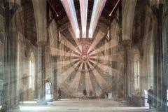 El gran pasillo, castillo de Winchester, explosión del enfoque de Hampshire Fotografía de archivo