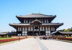 El gran pasillo de Buda del templo de Todaiji, Nara, Japón 2 Fotografía de archivo libre de regalías